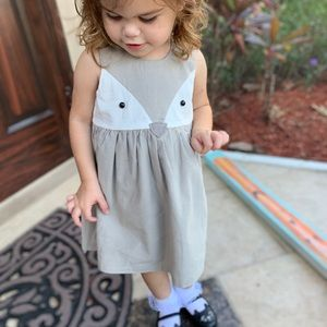 Other - 2T fox dress toddler gray